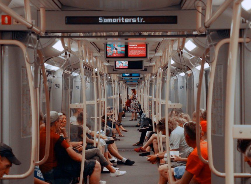 People in subway wagon